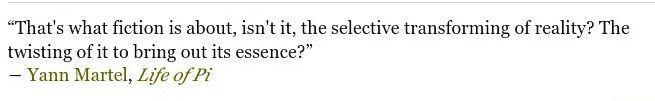 Yann Martel, Life of Pi quote