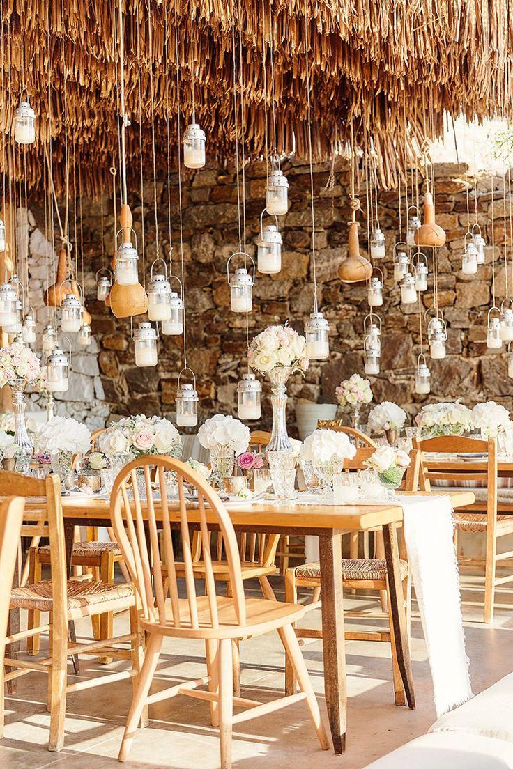 Destination Wedding in Mykonos with Endless Hanging Lanterns   Ruffled https://link.crwd.fr/OYN