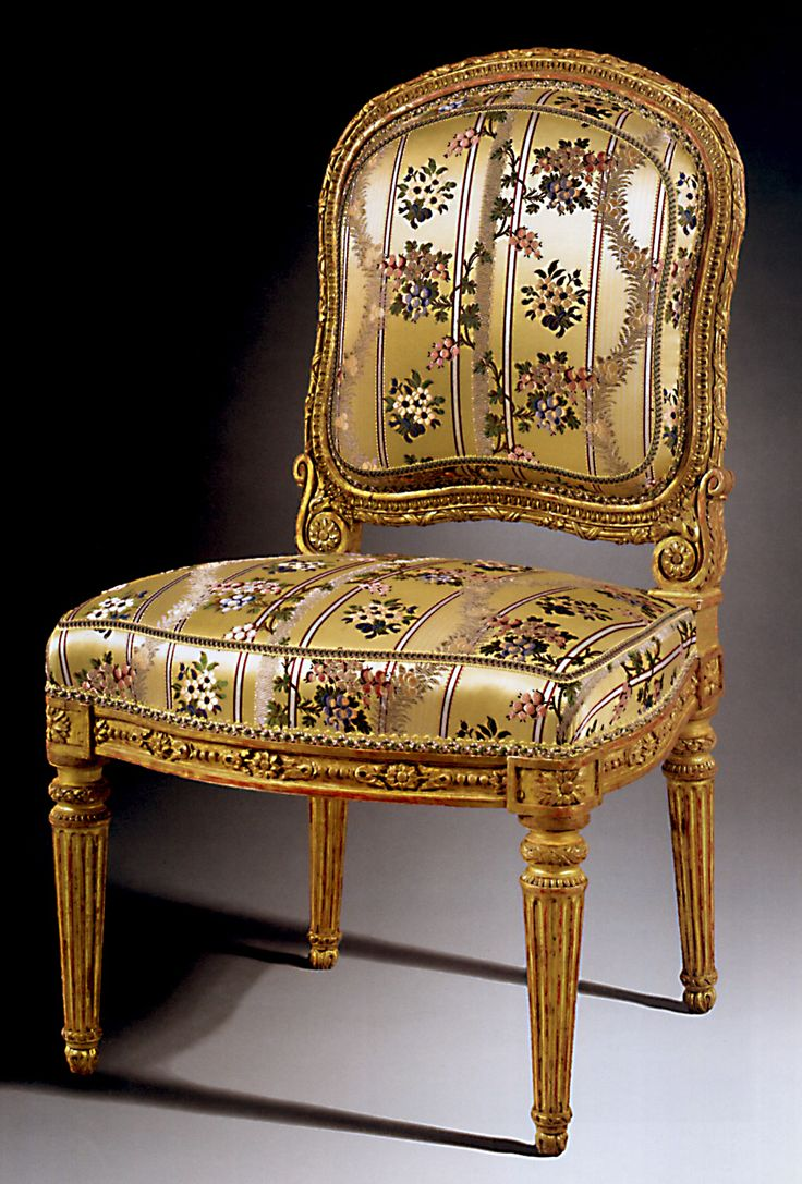 Queen anne chair history - Six Chaises Du Prince De Conde One Of Six Delivered To The Prince De Cond