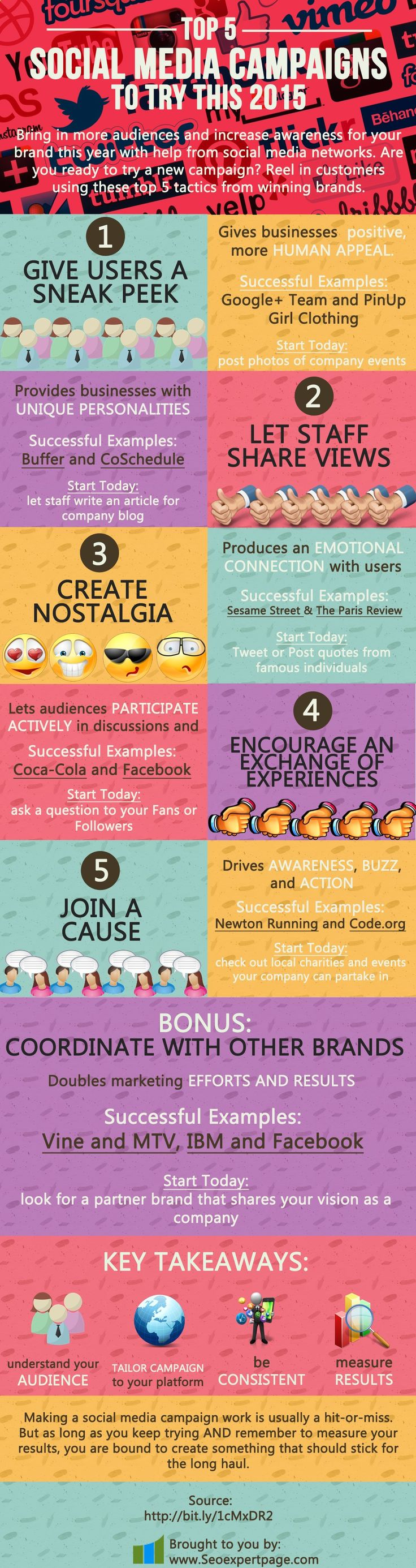 Top 5 Social Media Campaigns To Try This 2015 - Cendrine Marrouat | via Mary Lumley | BornToBeSocial.com | Pinterest Marketing & Training, France learn more here:  http://jvz9.com/c/459377/216079