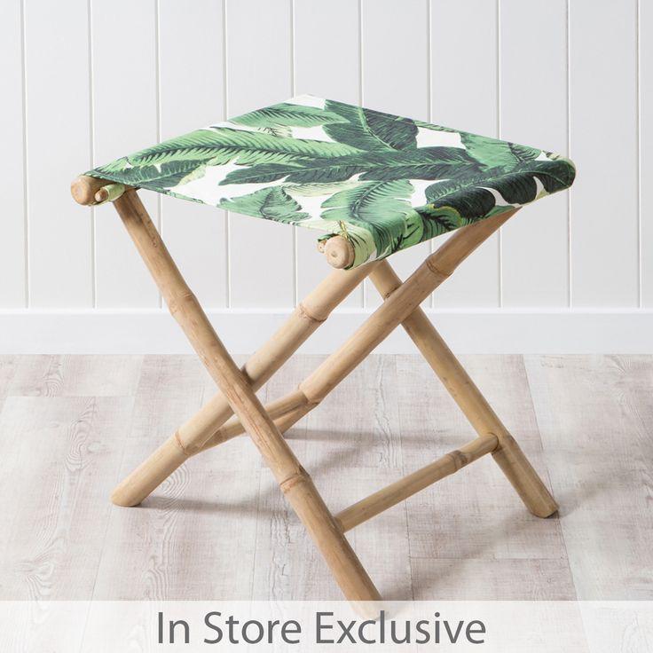 Bahamas Bamboo Foot Stool | Pillow Talk