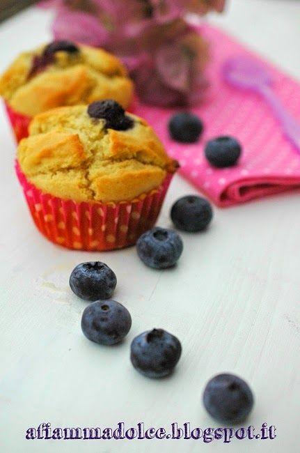 A fiamma Dolce: Muffin vegan ai mirtilli