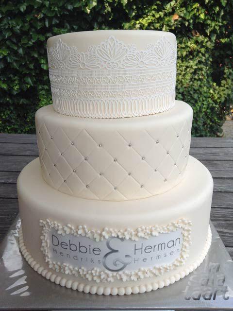 witte bruidstaart