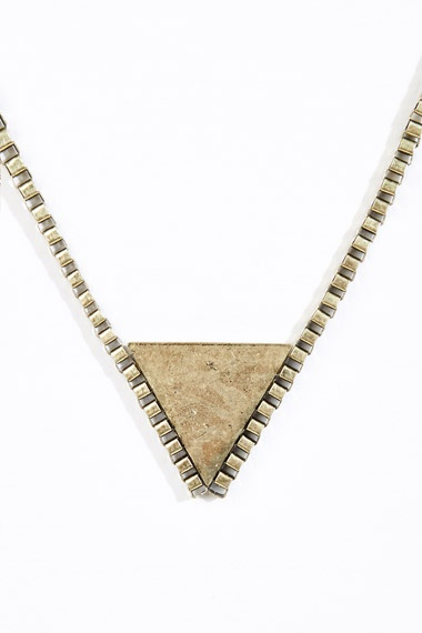 Triangle Chunky Chain Necklace at Urban Outfitters
