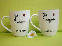 Hochzeit ★  JA - sager ★  Tassen im Set