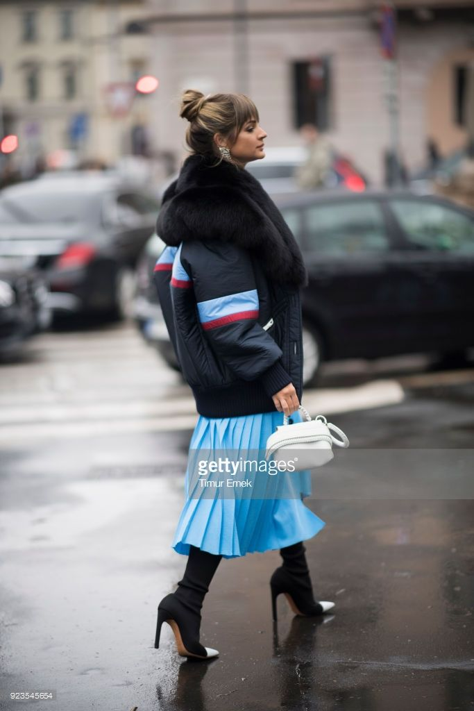 Thassia Naves seen after the Tods Fashion Show during the Milan Fashion Week Fall/Winter 2018/19 on February 23, 2018 in Milan, Italy.