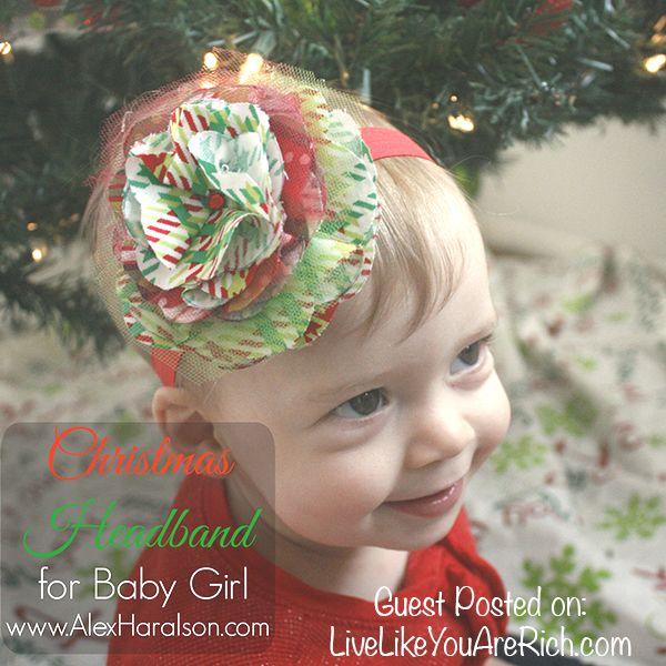 Best 25 diy christmas headbands ideas on pinterest mini mouse diy christmas headband for a baby girl solutioingenieria Gallery