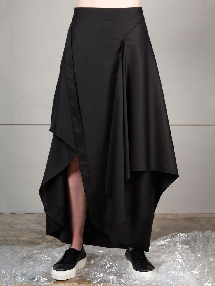 Black Silk Skirt | J.Perekriostova | NOT JUST A LABEL