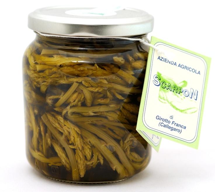Sparasine in olio - Asparagi selvatici - made in Arquà Petrarca - Padova - Italy