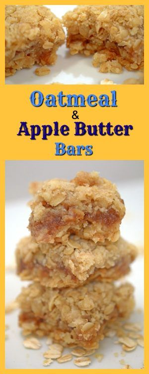 Oatmeal & Apple Butter Bars are a simple and delicious treat. Easy to make, you probably have all the necessary ingredients in your pantry, already!