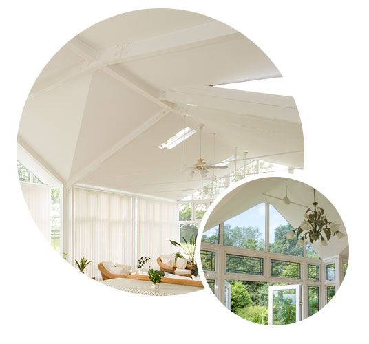 Conservatory ceiling roof insulation and conservatory roof replacement by Rundle & Dorey will give you back your dream of a beautiful living space that can be used all year round.