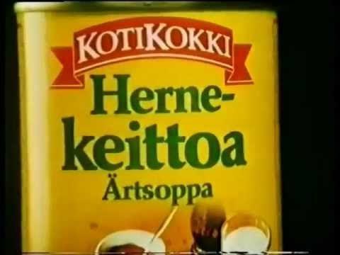 Kotikokki Hernekeitto mainos vuodelta 1985 - YouTube