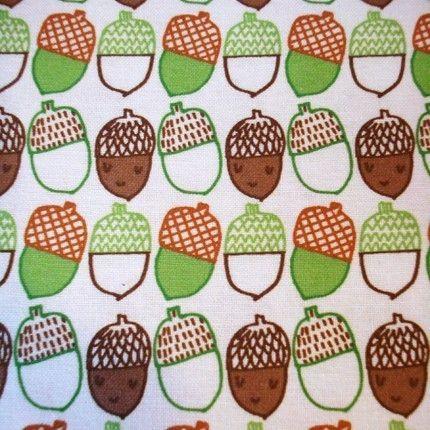 Love this Cute Acorn Fabric