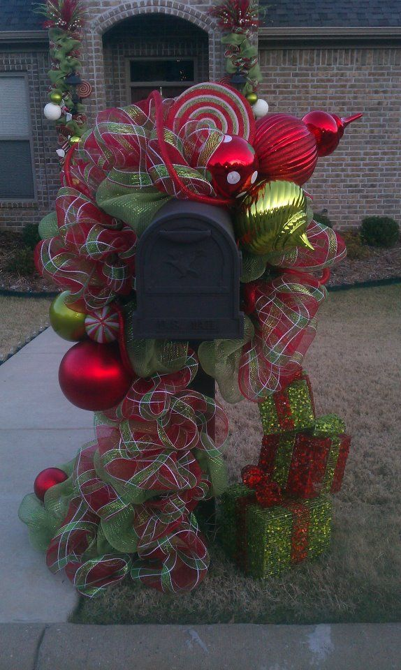 Christmas Decoration For Mailboxes : Best christmas mailbox decorations ideas on