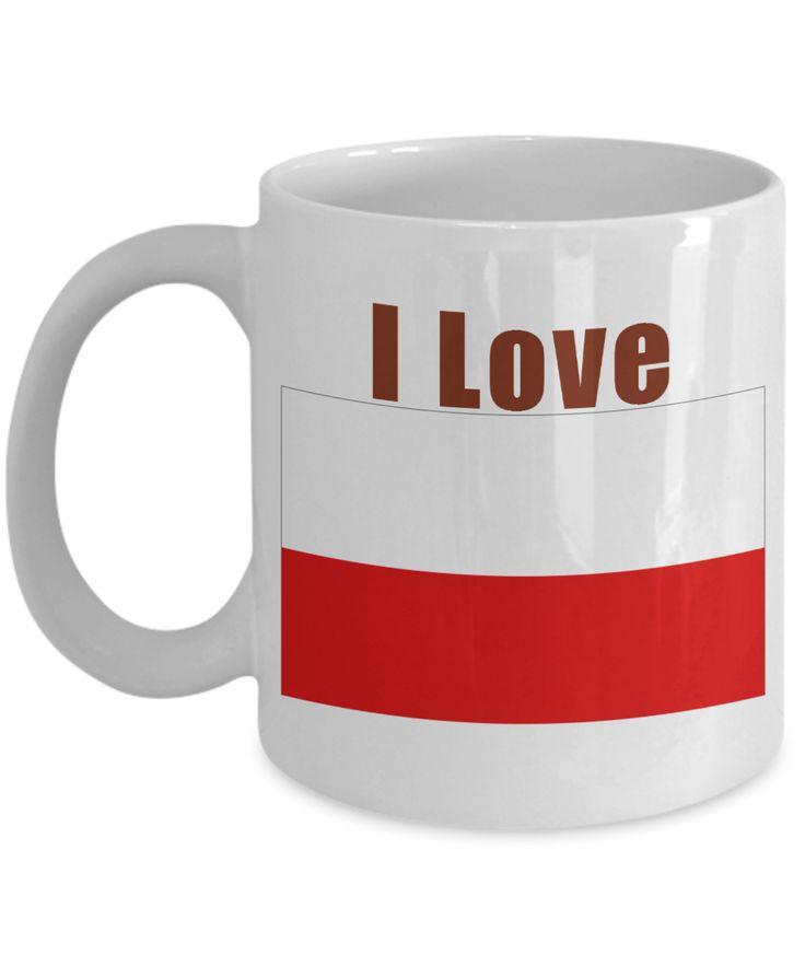 I Love Poland Coffee Mug With A Flag