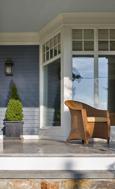 Anne Decker Architects | Selected Works | New Homes | Shingle Style House - detail of 1st floor window - alternative to storefront?