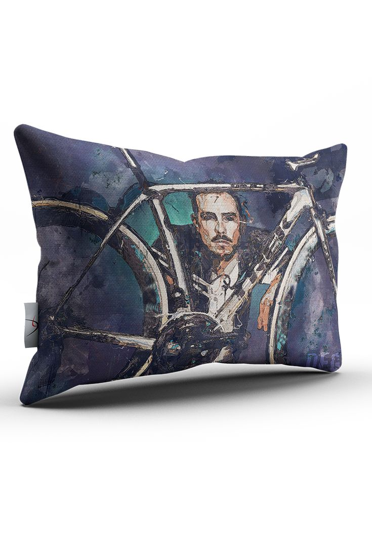 A decorative throw pillow with graphic theme of John Degenkolb. Whether you are a fan of Paris - Roubaix and Milan - Sanremo winner, or a fan of cobbled classics, this piece of dekor will certainly style your home. Prints with sharp image and colours using canvas poster art composition.