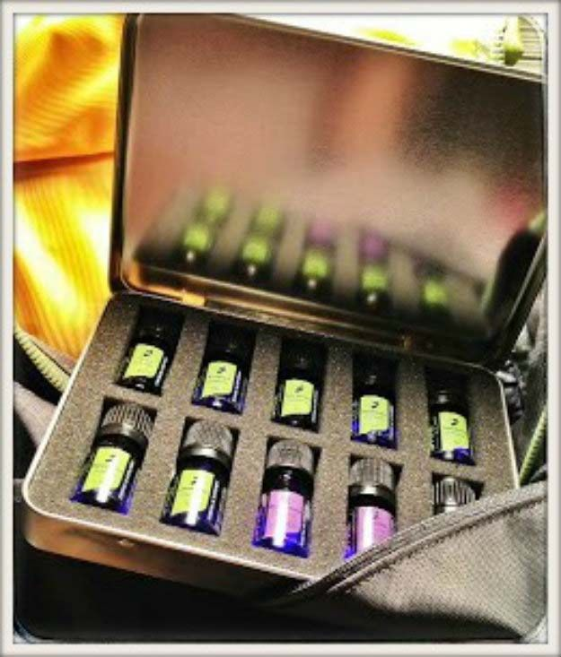 a home emergency first aid kit stocked with essential oils