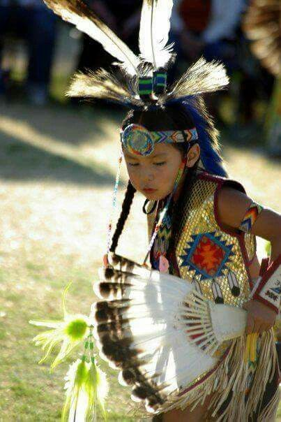 Native American Boy Dance At Pow-Wow