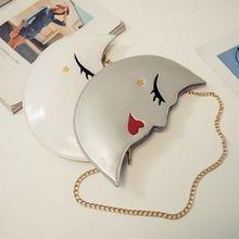 Doce Encantador mulheres sacos de Embreagem de couro Cadeia designer de Meninas Mensageiro lua moda embreagens mini saco Beleza Saco do Divertimento XA190YL alishoppbrasil