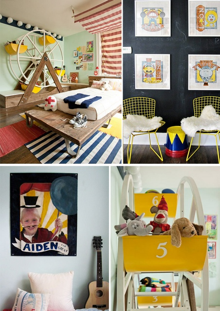 That bedroom is awesome. Circus!