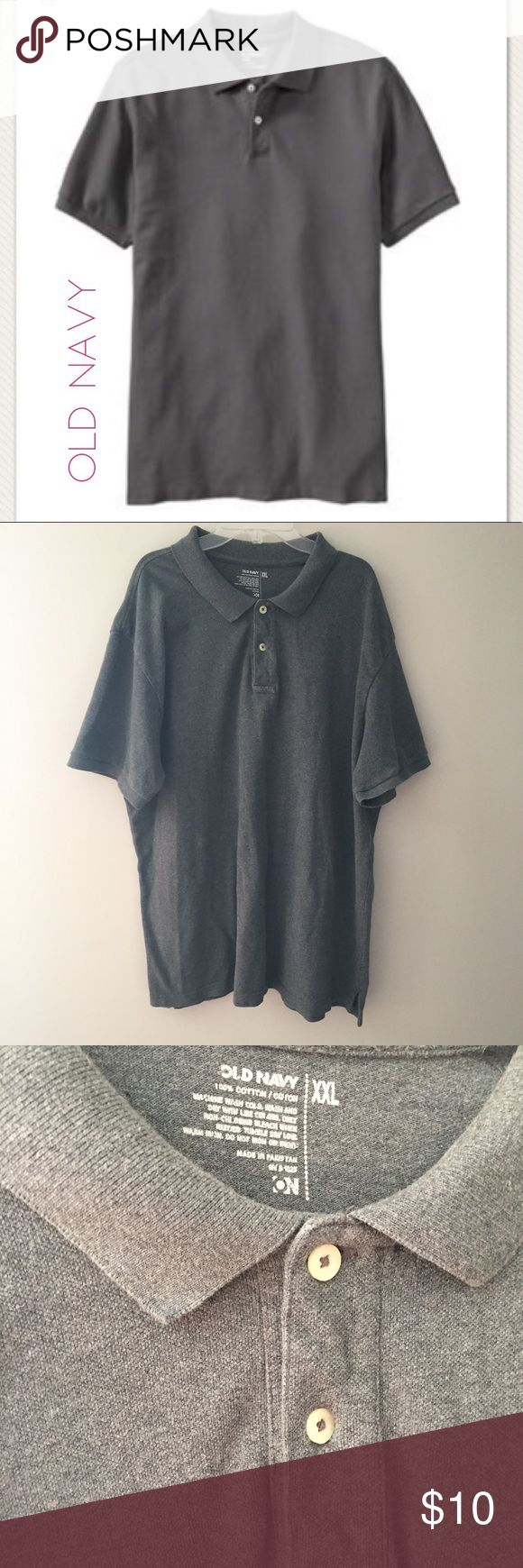 "Old Navy men's grey polo shirt. Size XXL Old Navy men's grey polo shirt. Size XXL. Cotton. 29"" long Old Navy Shirts Polos"