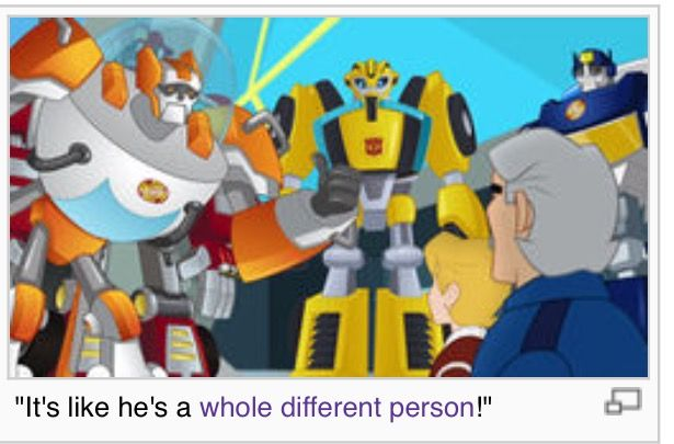 THATS BECAUSE HE IS VOICED BY A NEW PERSON AKA WILL FRIEDLE<<<<WHO IS ALSO BEE IN PRIME AD RID AND RON STOPPABLE AND DEADPOOL IN ULTIMATE APIDERMAN
