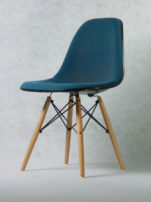 1 von 3 side chair dsw charles eames petrol herman for Chaise dsw vitra