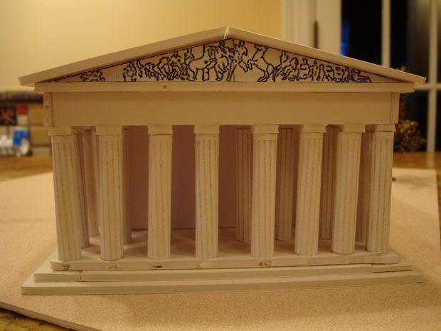 The Parthenon Athens Greece Model Parthenon Athens