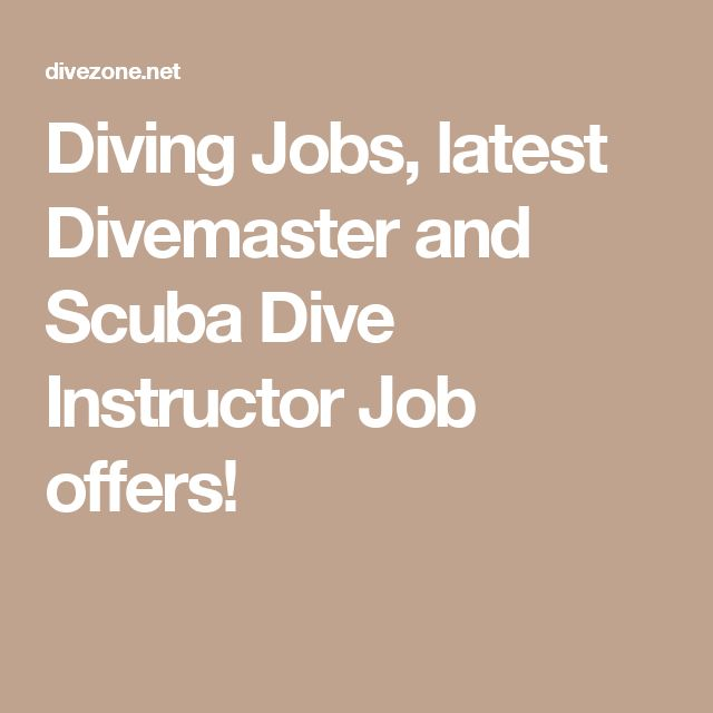 Diving Jobs, latest Divemaster and Scuba Dive Instructor Job offers!