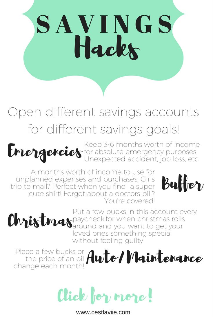 Four savings account ideas for aspiring functional adults & those who have already made it! Click the pin for even more tips and a free savings worksheet!
