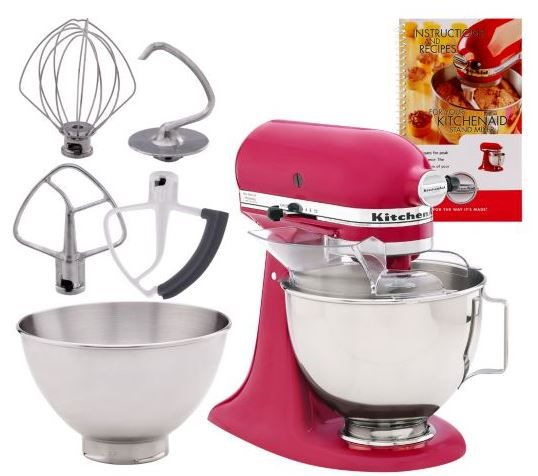 QVC ~ KitchenAid 4.5qt. 300 Watt 10 Speed Stand Mixer w/ Additional Bowl just $269.96 or 5 payments of $53.99!