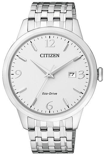 Montre Citizen Eco Drive Homme BM7300-50A - Quartz - Analogique - Verre Saphir - Cadran et Bracelet en Acier Argent - Date - Montre Japonaise