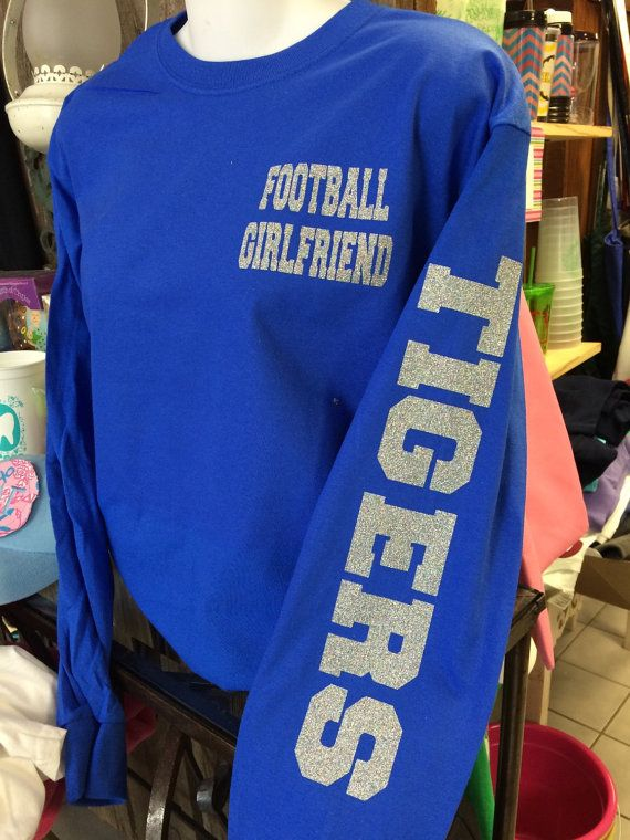 Football Girlfriend Long Sleeve with Mascot Name by TheShirtPlace                                                                                                                                                     More