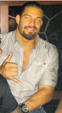 Joe Anoa'i aka Roman Reigns looking sexy in grey