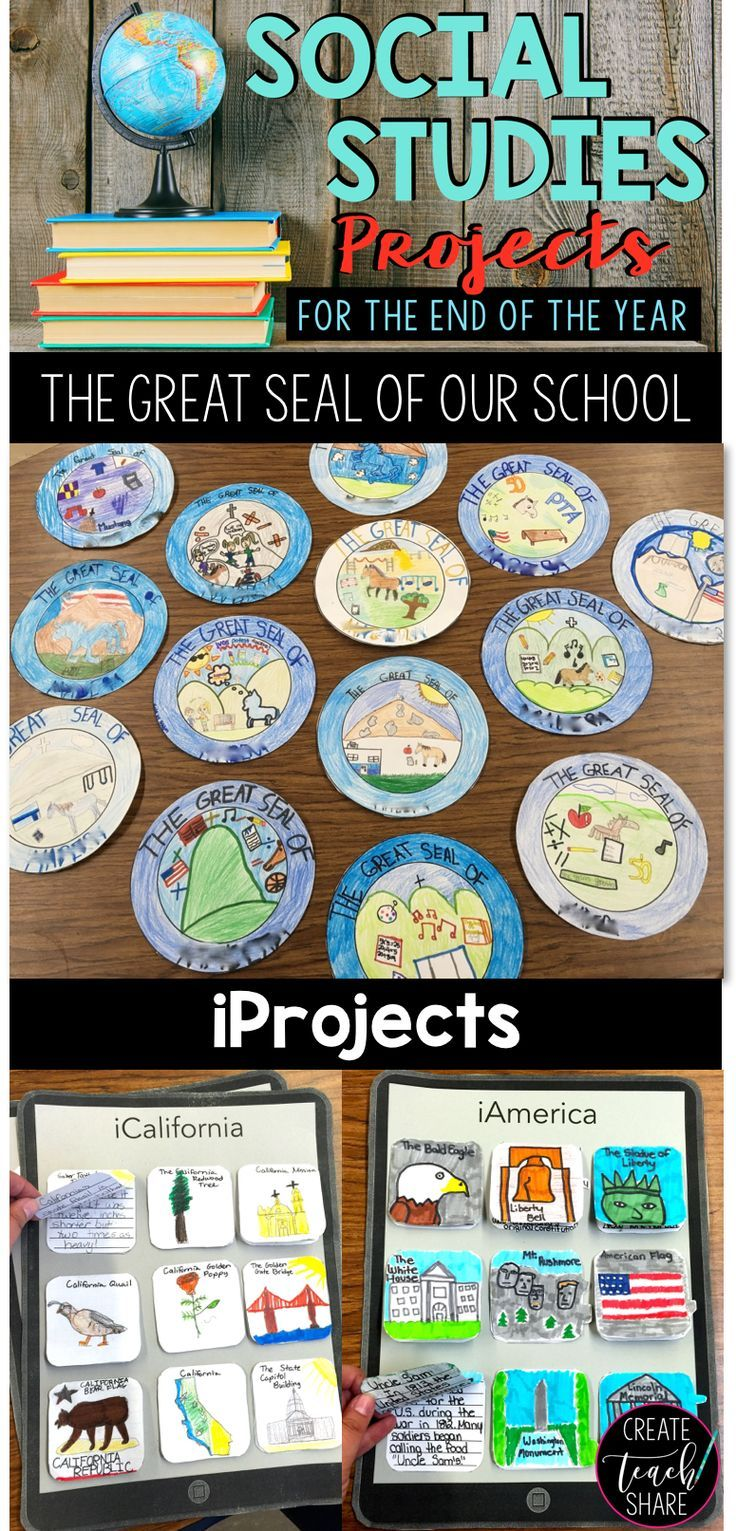 Social studies projects for the end of the year. Perfect for upper grade classrooms!!