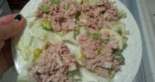 Ensalada de atún en salsa de yogur y limón | Recetas para adelgazar