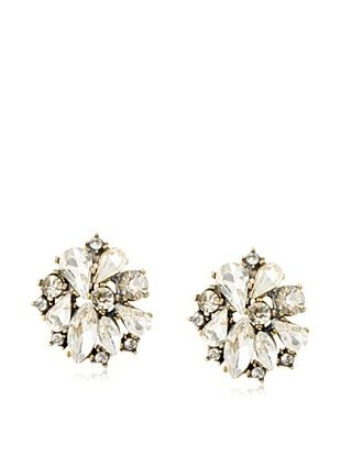 Leslie Danzis Swirl Crystal Post Earrings