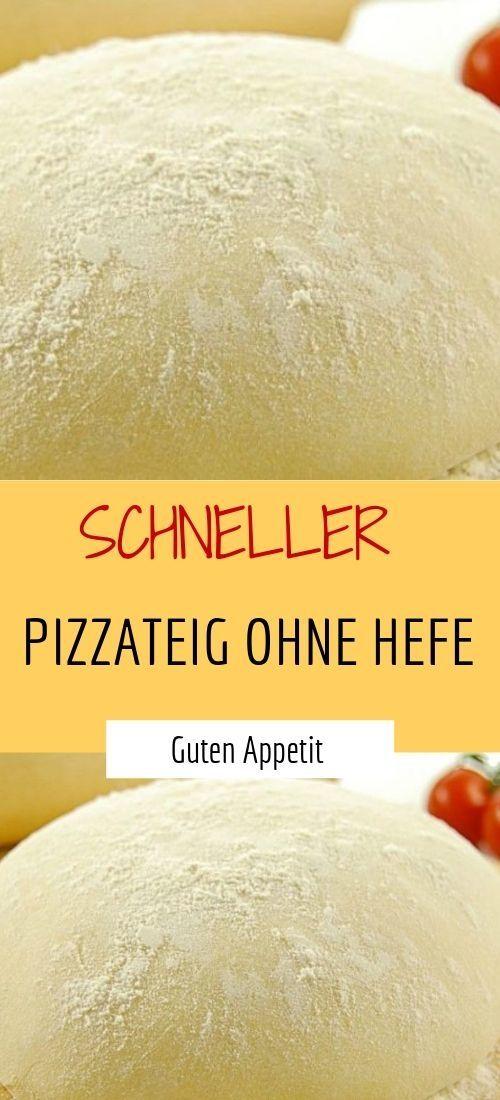 SCHNELLER PIZZATEIG OHNE HEFE | Sprainnews