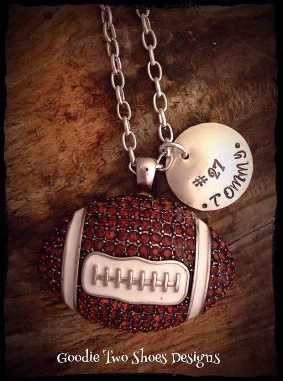 Football Mom Necklace, Football Mom, Football, Football Jewelry on Etsy, $24.00