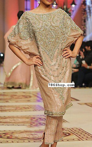 Peach Silk Suit | Buy Pakistani Fashion Dresses and Clothing Online in USA, UK
