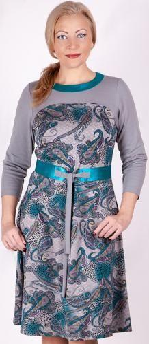 Платье «Восток-арт» бирюзовый пейсли