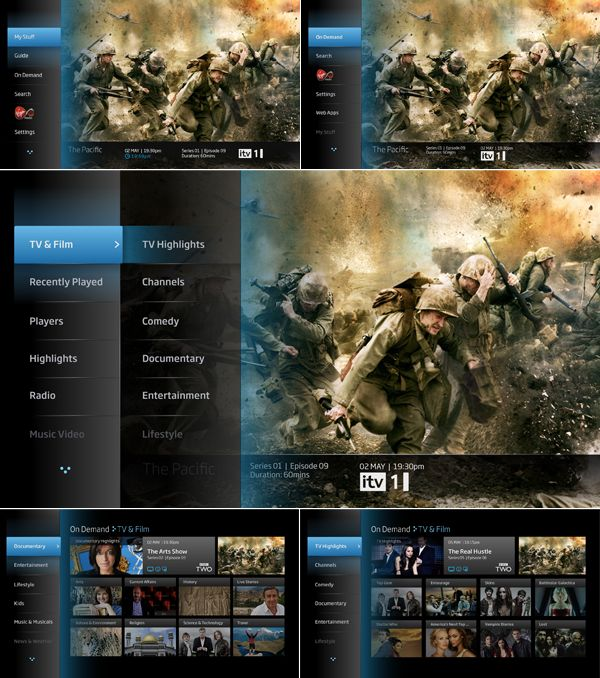 YouView User Interface by Alex Townsend, via Behance