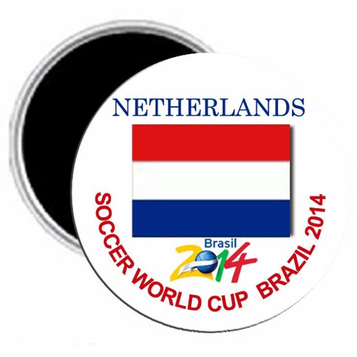 World Cup 2014 My Favorite Team Netherlands Magnet 2.25 | Balli Gifts