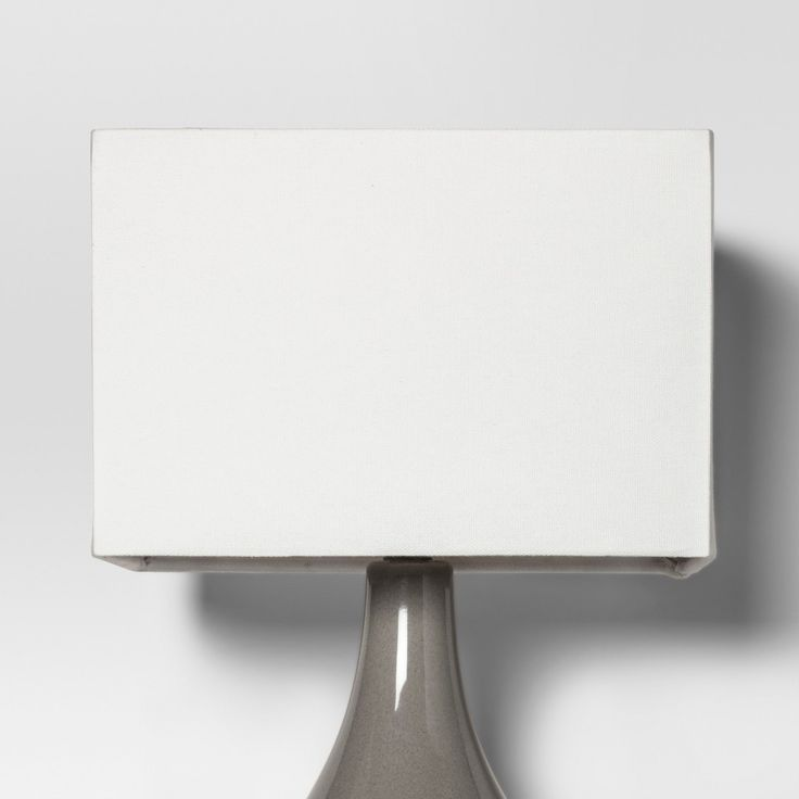 Large Rectangle Lamp Shade   White   Project 62