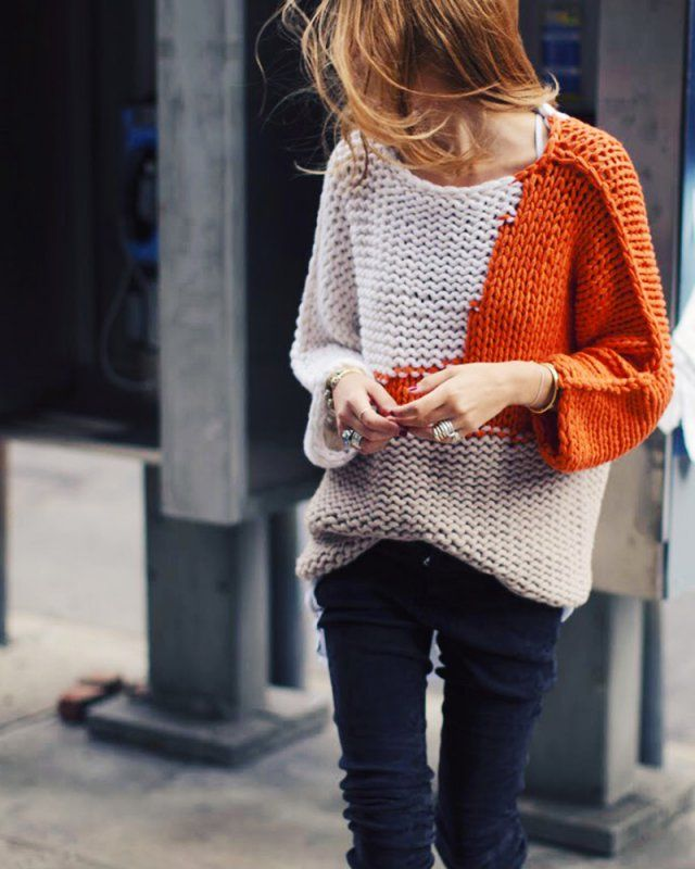 knitting fashion / jumper / tricoter un pull tendance / tricot mode