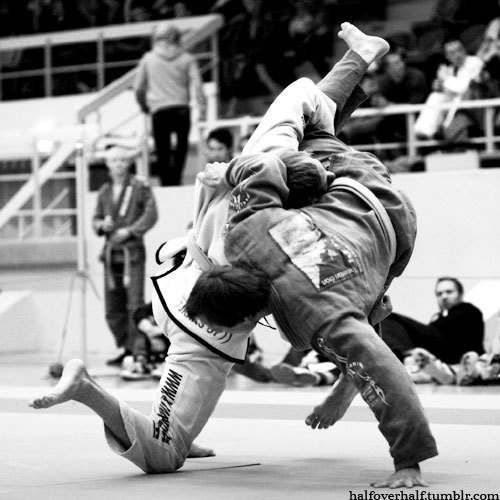 """I love this action! People say BJJ is the """"quiet"""" Martial Art...apparently, you can't hear a body when it slams to the floor!"""