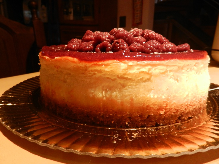 Cheesecake con frambuesas..