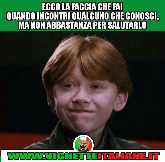 Ecco la faccia che fai quando incontri qualcuno che conosci, ma non abbastanza per... (www.VignetteItaliane.it)