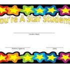 Two star student certificates to give out to your star students! ...